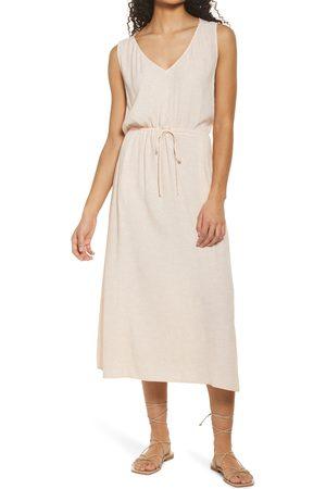 Treasure & Bond Women's Print Sleeveless Midi Dress