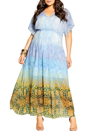 City Chic Plus Size Women's Shanika Mirror Midi Dress