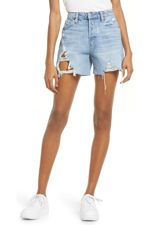 HIDDEN JEANS Women's Ripped High Waist Cutoff Denim Shorts
