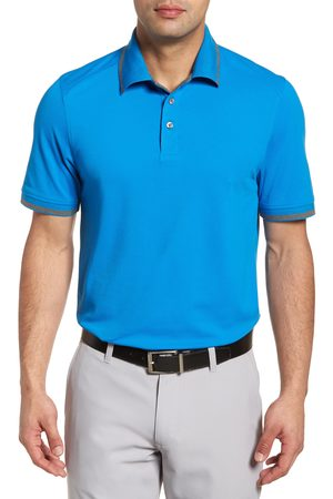 Cutter & Buck Men Polo Shirts - Men's Advantage Classic Fit Tipped Drytec Polo