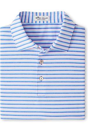 Peter Millar Men Polo Shirts - Men's Stripe Short Sleeve Performance Golf Polo