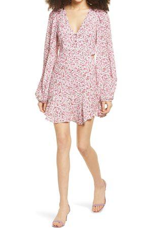 AFRM Women's Monna Side Cutout Long Sleeve Minidress