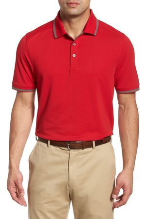 Cutter & Buck Men's Advantage Classic Fit Tipped Drytec Polo