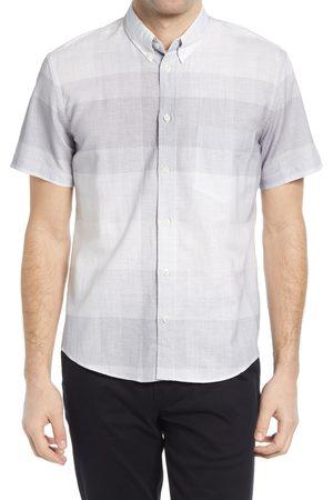 BILLY REID Men's Kirby Plaid Cotton & Linen Short Sleeve Button-Down Shirt