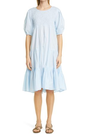 Merlette Women's Vallarta Smocked Cotton Tiered Dress