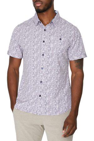 7 Diamonds Men's Fascination Street Short Sleeve Stretch Button-Up Shirt