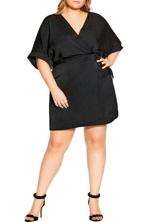 City Chic Plus Size Women's Uplifted Tie Waist Dress