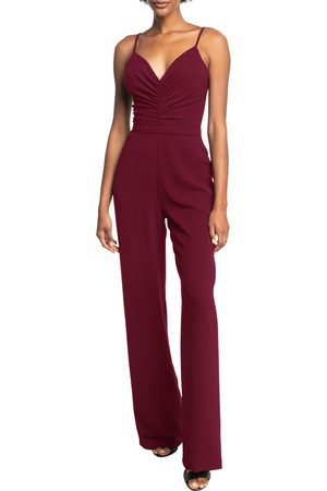 Dress The Population Women's Emmet Gathered Crepe Jumpsuit