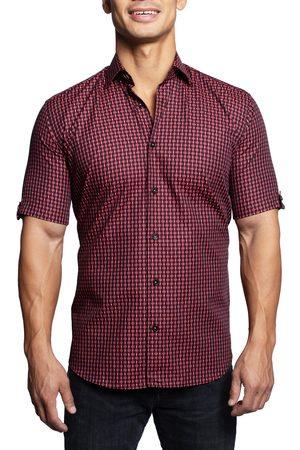 Maceoo Men Short sleeves - Men's Galileo Buttons Short Sleeve Button-Up Shirt