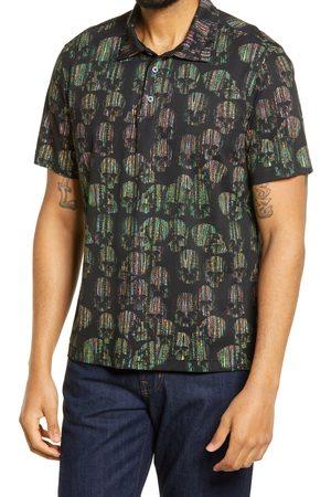 Bugatchi Men's Skull Print Polo Shirt