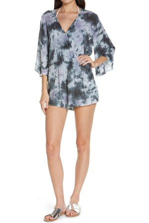 Delan Women's Tie Dye Cover-Up Romper