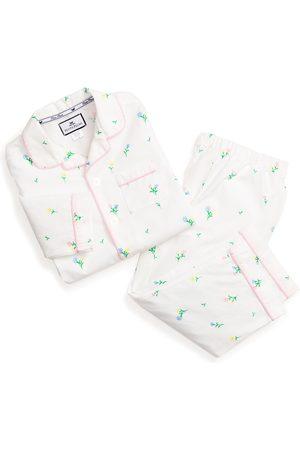 Petite Plume Girls Nightdresses & Shirts - Infant Girl's Tulip Print Two-Piece Pajamas