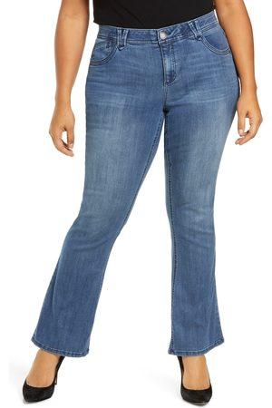 Wit & Wisdom Plus Size Women's Itty Bitty Bootcut Jeans