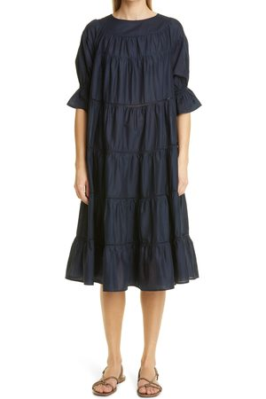MERLETTE Women's Paradis Open Tier Cotton Dress