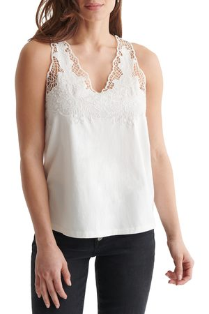 Lucky Brand Women's Crochet Trim Tank