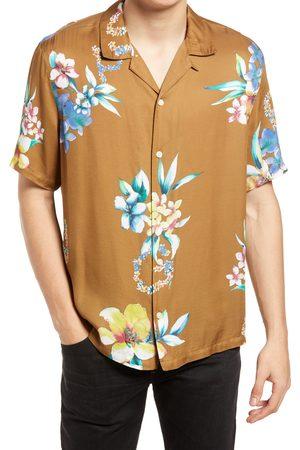 AllSaints Men's Hana Floral Short Sleeve Button-Up Camp Shirt