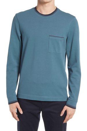 CLUB MONACO Men's Club Monado Long Sleeve Pique Pocket T-Shirt