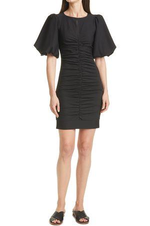 SMYTHE Women's Ruched Bubble Sleeve Minidress
