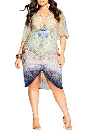 City Chic Women Dresses - Plus Size Women's Zambia Mirror Ruched Dress