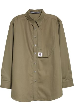 Spencer Badu Men's Long Sleeve Button-Up Cargo Shirt