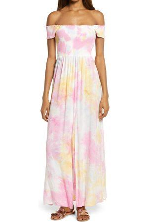 AREA Women's Tie Dye Off The Shoulder Dress