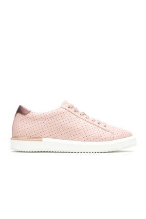 Hush Puppies Women's Sabine Sneaker SNEAKERS, Size 6 Medium Width, Pale Blush Perf Leather