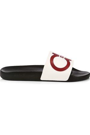 Salvatore Ferragamo Men's Ree Logo Pool Slides - - Size 13 Sandals