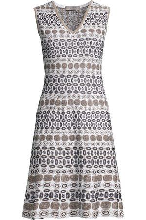 D.EXTERIOR Women Knitted Dresses - Women's Geometric Jacquard Knit Sleeveless Dress - - Size Small