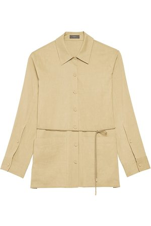 THEORY Women's Patch Pocket Shirt Jacket - Sprig - Size Small
