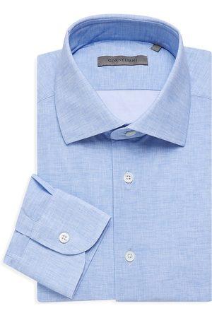 corneliani Men's Solid Dress Shirt - Light - Size 17.5