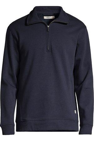 UGG Men's Zeke Quarter-Zip Sweater - Navy - Size Medium