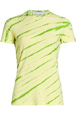 PROENZA SCHOULER WHITE LABEL Women's Tie Dye Stretch Jersey T-Shirt - Olive Pale - Size Small