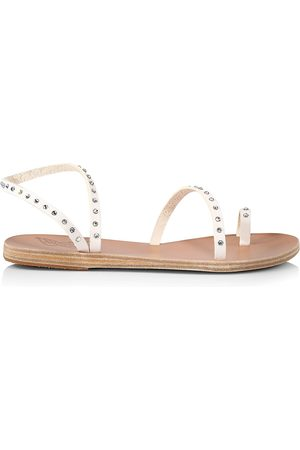 Ancient Greek Sandals Women Sandals - Women's Apli Eleftheria Crystal-Embellished Vinyl Sandals - - Size 11
