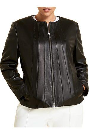 Persona by Marina Rinaldi Women's Seamed Leather Jacket - - Size 20