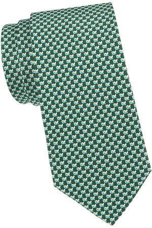 Salvatore Ferragamo Men's Bird Silk Tie - Verde