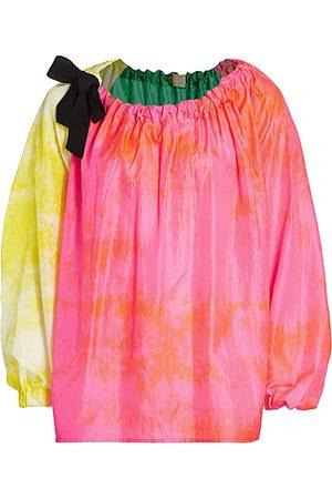 RACHEL COMEY Women's Jest Tie-Dye Silk Top - Size 10