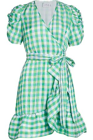 TANYA TAYLOR Women's Natasha Gingham Wrap Dress - Halogen Multi Gingham - Size 14
