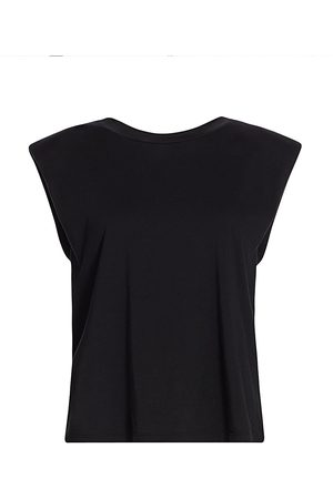 7 for all Mankind Women's Padded Shoulder T-Shirt - - Size XS