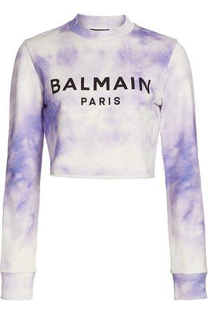 Balmain Women's Tie-Dye Long-Sleeve T-Shirt - Light - Size Large