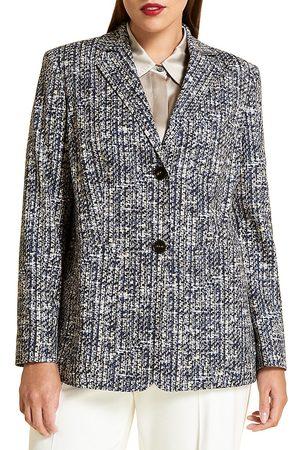 Persona by Marina Rinaldi Women's Tweet Tailored Jacket - Navy Sand - Size 22
