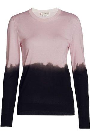 Alexander McQueen Women's Ombre Silk Crewneck Sweater - - Size Large