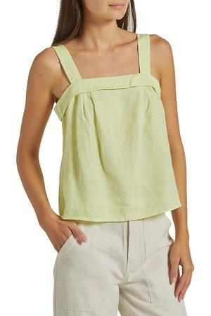 Joie Women's Ami Linen Top - Lemon Lime - Size Small