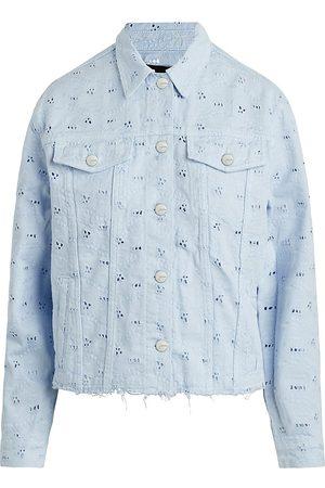 Joes Jeans Women Denim Jackets - Women's The Boyfriend Eyelet Denim Jacket - Wedgewood - Size Small
