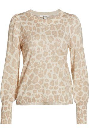 Splendid Women's Whitney Leopard Pullover - Heather Oatmeal Leopard - Size XS