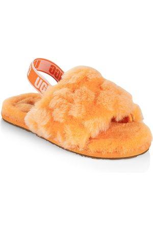 UGG Girls Sandals - Baby's, Little Girl's & Girl's Fluff Yeah Fur Slides - California - Size 11 (Child) Sandals