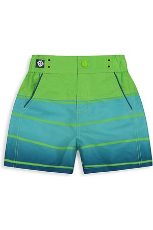 Andy & Evan Little Boy's Ombre Swim Trunks - Ombre - Size 7