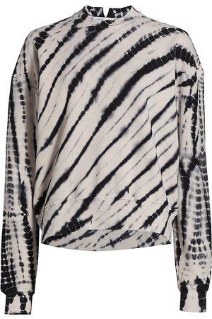 PROENZA SCHOULER WHITE LABEL Women's Modified Raglan Tie Dye Sweatshirt - Ecru - Size Small