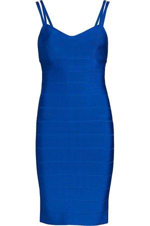 Hervé Léger Women's Bustier Icon Mini Dress - Cobalt - Size Large
