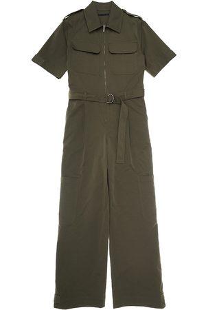 Helmut Lang Women's Utility Short Sleeve Jumpsuit - Burnt Olive - Size 12
