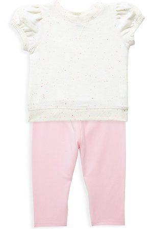 Splendid Baby Girl's 2-Piece Neon Speck T-Shirt & Leggings Set - - Size 6 Months